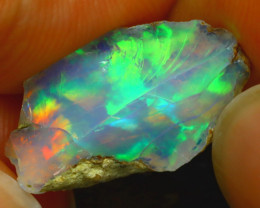 7.40Ct Multi Color Play Ethiopian Welo Opal Rough H2801/R2