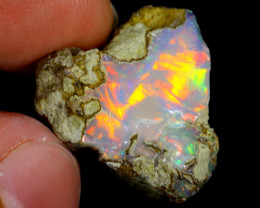 11cts Natural Ethiopian Welo Rough Opal / WR4131