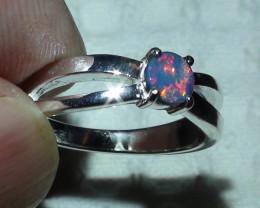 Australian Opal Doublet 925 Sterling Silver Ring  *