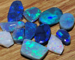 AAA GRADE BLACK OPAL ROUGH RUBBED SEMIFINISHED