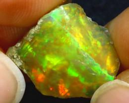7.40Ct Multi Color Play Ethiopian Welo Opal Rough H3001/R2