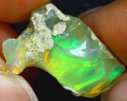 8.80Ct Multi Color Play Ethiopian Welo Opal Rough H3003/R2