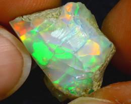 10.60Ct Multi Color Play Ethiopian Welo Opal Rough HF3012/R2