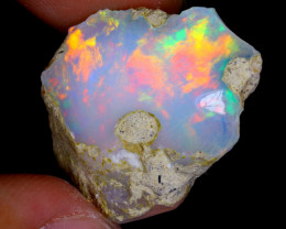 21cts Natural Ethiopian Welo Rough Opal / WR4182