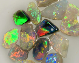 From the Field- Stunning Little Bright Multicolour Opal Rubs- 8.7 CTs #1532