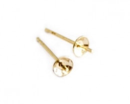 Pearl Cup & Pins | Nickel Free Silver, 9ct Yellow Gold