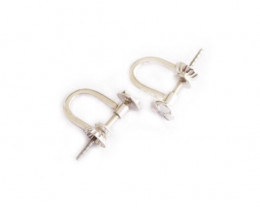 Ear Pin Screws | Earring Pins | Nickel Free Silver , 9ct Yellow Gold