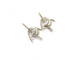 Collet 4-Claw with pin | Gold, Nickel Free Silver