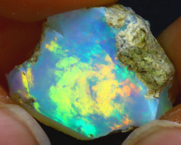 8.83Ct Multi Color Play Ethiopian Welo Opal Rough JF0120/R2