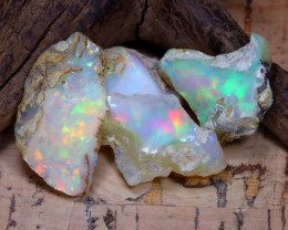 Welo Rough 34.24Ct Natural Ethiopian Play Of Color Rough Opal D3002