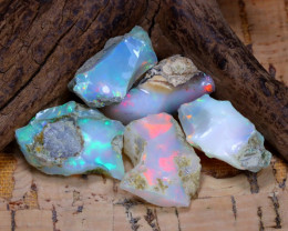 Welo Rough 30.85Ct Natural Ethiopian Play Of Color Rough Opal D3004