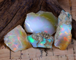 Welo Rough 34.67Ct Natural Ethiopian Play Of Color Rough Opal D3005