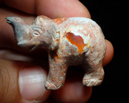 Unique Nature Beauty Gift Matrix Opal Carving Mesmerizing Elephant