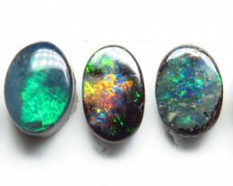 2.45ct Australian Boulder Opal 5 Stone 6x4mm Parcel