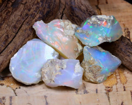 Welo Rough 42.87Ct Natural Ethiopian Play Of Color Rough Opal D0101