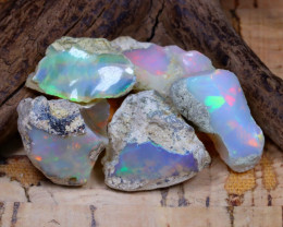 Welo Rough 44.73Ct Natural Ethiopian Play Of Color Rough Opal D0102