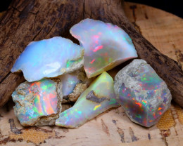 Welo Rough 41.84Ct Natural Ethiopian Play Of Color Rough Opal D0104