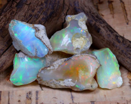 Welo Rough 45.88Ct Natural Ethiopian Play Of Color Rough Opal D0106