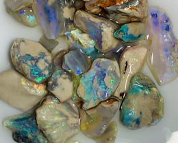 Colourful Nobby Rough Opals- Bright Potential Material#1563