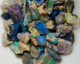 115 Cts of Bright Dark Base Nobby Opal Rough with Potential
