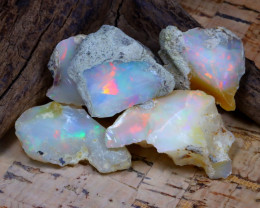 Welo Rough 44.75Ct Natural Ethiopian Play Of Color Rough Opal D0201
