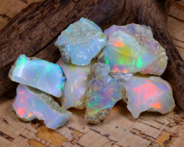 Welo Rough 46.55Ct Natural Ethiopian Play Of Color Rough Opal D0203