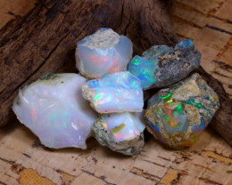 Welo Rough 55.20Ct Natural Ethiopian Play Of Color Rough Opal D0205
