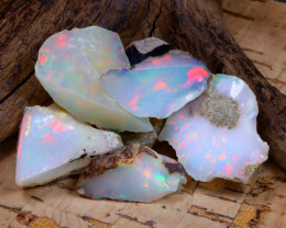 Welo Rough 44.60Ct Natural Ethiopian Play Of Color Rough Opal D0206