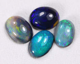1.47Ct Natural Australian Lightning Ridge Dark Black Opal Lot E0205