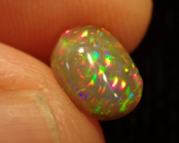 0.78ct Bright Natural Ethiopian Welo Multicoloured Fire Opal