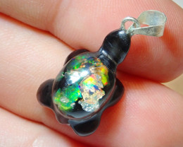 Coming Soon Do Not Bid Mexican Fire Opal Inlaid Turtle