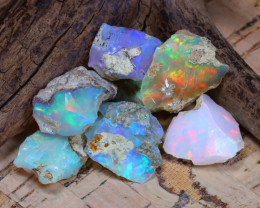 Welo Rough 31.39Ct Natural Ethiopian Play Of Color Rough Opal D0301
