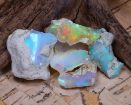 Welo Rough 36.44Ct Natural Ethiopian Play Of Color Rough Opal D0305