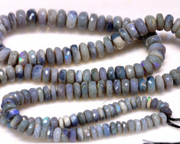 80 CTS  BLACK OPAL BEADS FACETED  TBO-931
