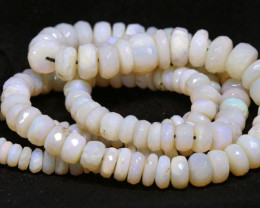 90CTS COOBER PEDY WHITE OPAL BEADS FACETED  TBO-940