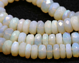 50CTS COOBER PEDY WHITE OPAL BEADS FACETED  TBO- 953