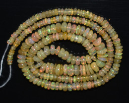 35.05 Ct Natural Ethiopian Welo Opal Beads Play Of Color OB1182