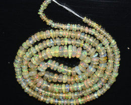 27.25 Ct Natural Ethiopian Welo Opal Beads Play Of Color OB1184