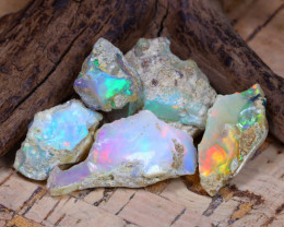 Welo Rough 44.50Ct Natural Ethiopian Play Of Color Rough Opal D0501