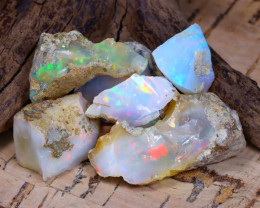 Welo Rough 45.06Ct Natural Ethiopian Play Of Color Rough Opal D0502
