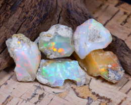 Welo Rough 40.42Ct Natural Ethiopian Play Of Color Rough Opal D0503