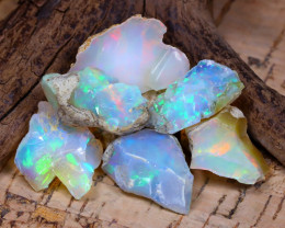 Welo Rough 42.97Ct Natural Ethiopian Play Of Color Rough Opal D0505
