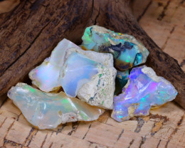 Welo Rough 49.09Ct Natural Ethiopian Play Of Color Rough Opal D0506