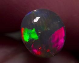 Super bright pink fire ball Lighting Ridge Solid Black Opal