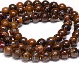 112.95 CTS BOULDER OPAL BEADS STRANDS TBO-4803