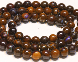 114.70 CTS BOULDER OPAL BEADS STRANDS TBO-4807