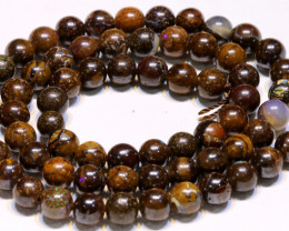 115.90 CTS BOULDER OPAL BEADS STRANDS TBO-4808