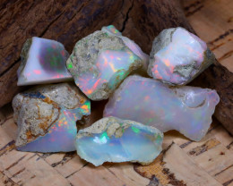 Welo Rough 44.46Ct Natural Ethiopian Play Of Color Rough Opal D0604