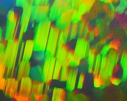 6.745 CRT RARE!! AMAZING 3D MOSAIC HEXAGON HONEYCOMB 5/5 COLORS WELO OPAL*