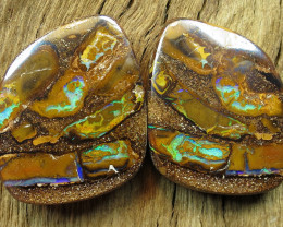 100cts, BOULDER MATRIX OPAL~PAIR.